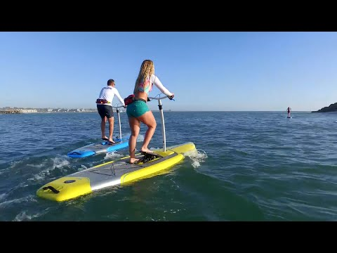 This is a paddleboard and a stepper put together