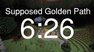 Minecraft Speedrun: Supposed Golden Path (6:26)