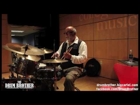 Drum Lesson - Peter Erskine ( weather report, diana krall, pat metheny ) Part 1    The DrumHouse
