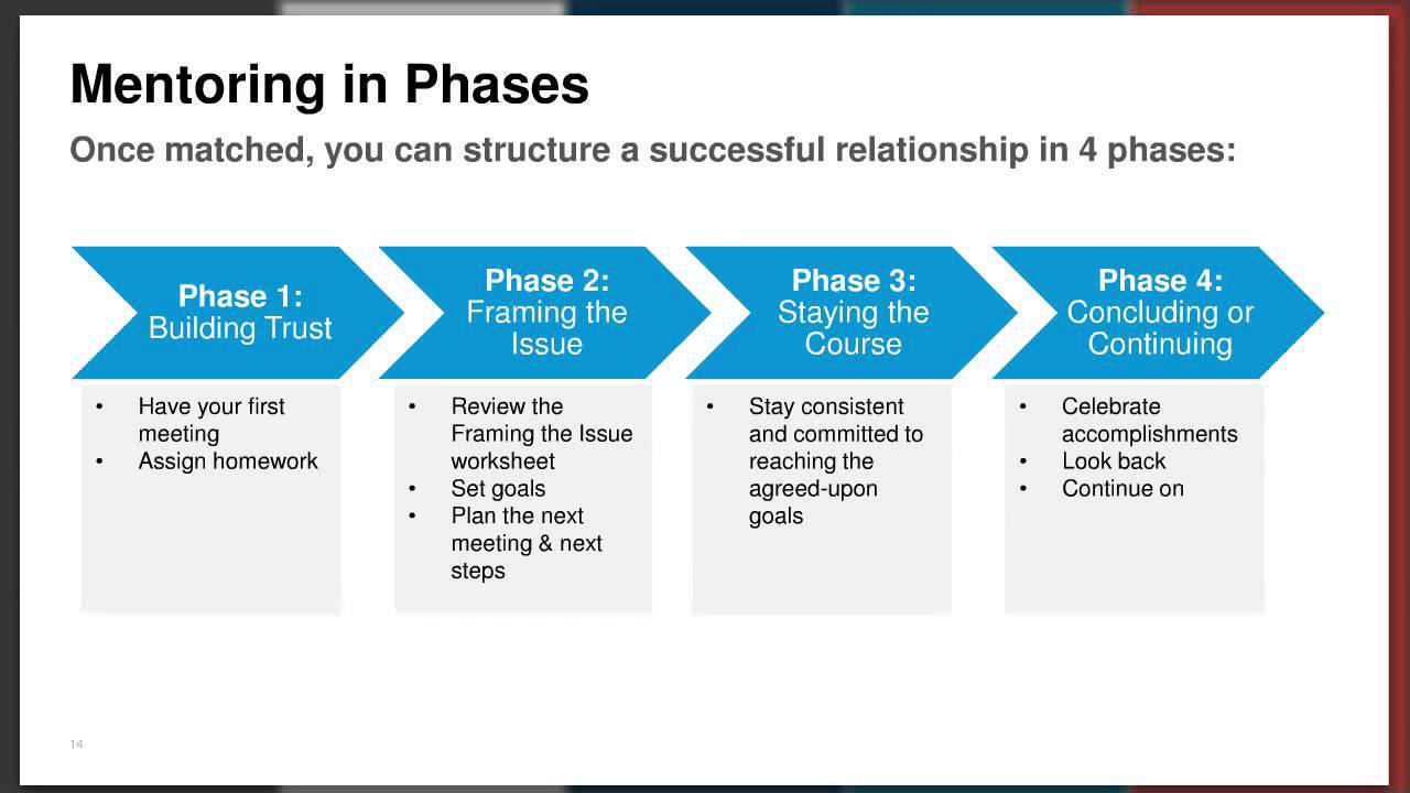 building the mentoring relationship phases