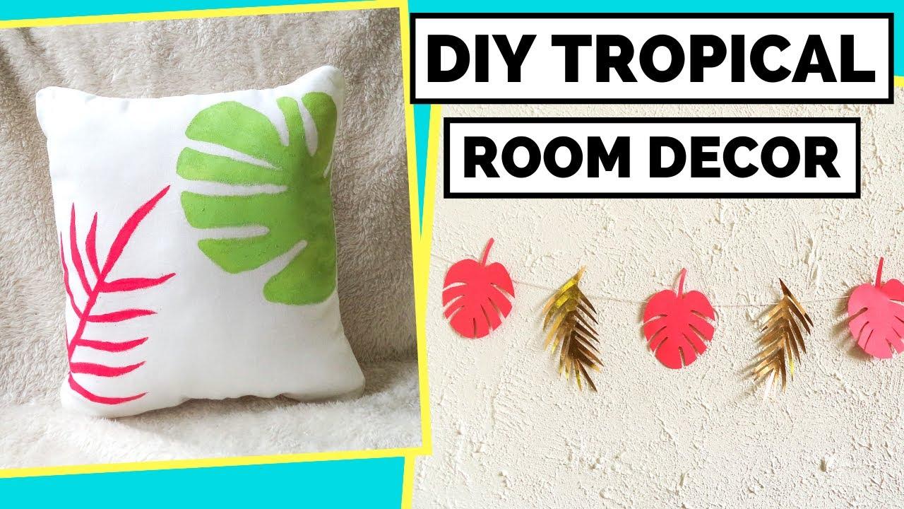 2 Diy Tropical Room Decor Ideas Easy Diy Summer Decor Ideas For Your Room Youtube
