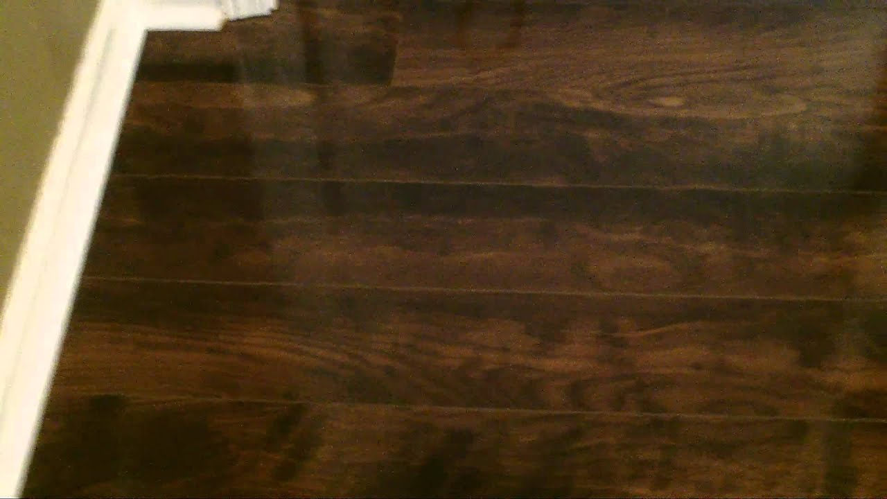 Final Look Of A SwiftLock High Gloss Laminate Flooring   YouTube