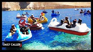 Taliban Seen Riding Swan Boats