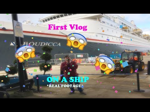 On a Cruise ship for my First Ever Vlog :o