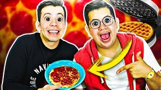 CREAMOS LOS WAFFLES DE PIZZA *Saben increíble