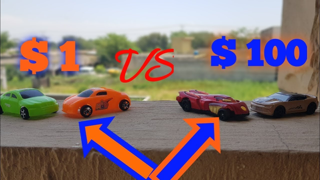 $100 VS $1 CAR Review    which one is the best   with romaan toy review