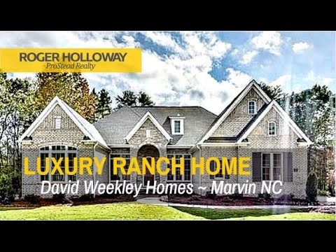 Luxury New Construction Ranch Home from David Weekley - Marvin NC