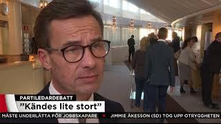 """Kristersson: """"Löfven är helt besatt av SD"""" - Nyheterna (TV4)"""