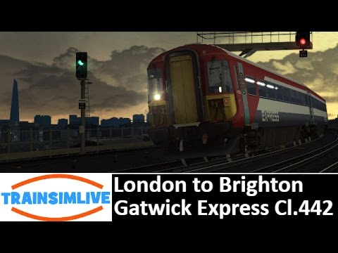 Let's Play Train Simulator 2016 - London to Brighton, Class 442 Gatwick Express