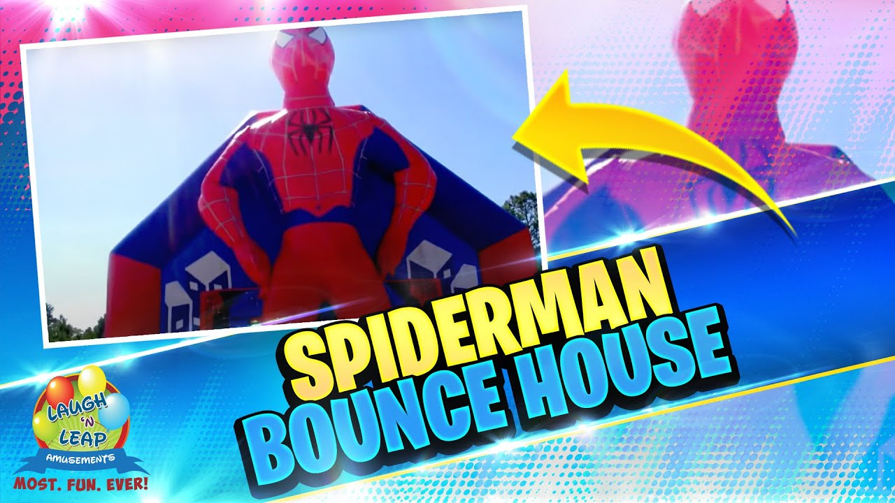 Spiderman Bounce House Laugh N Leap Amusements Youtube