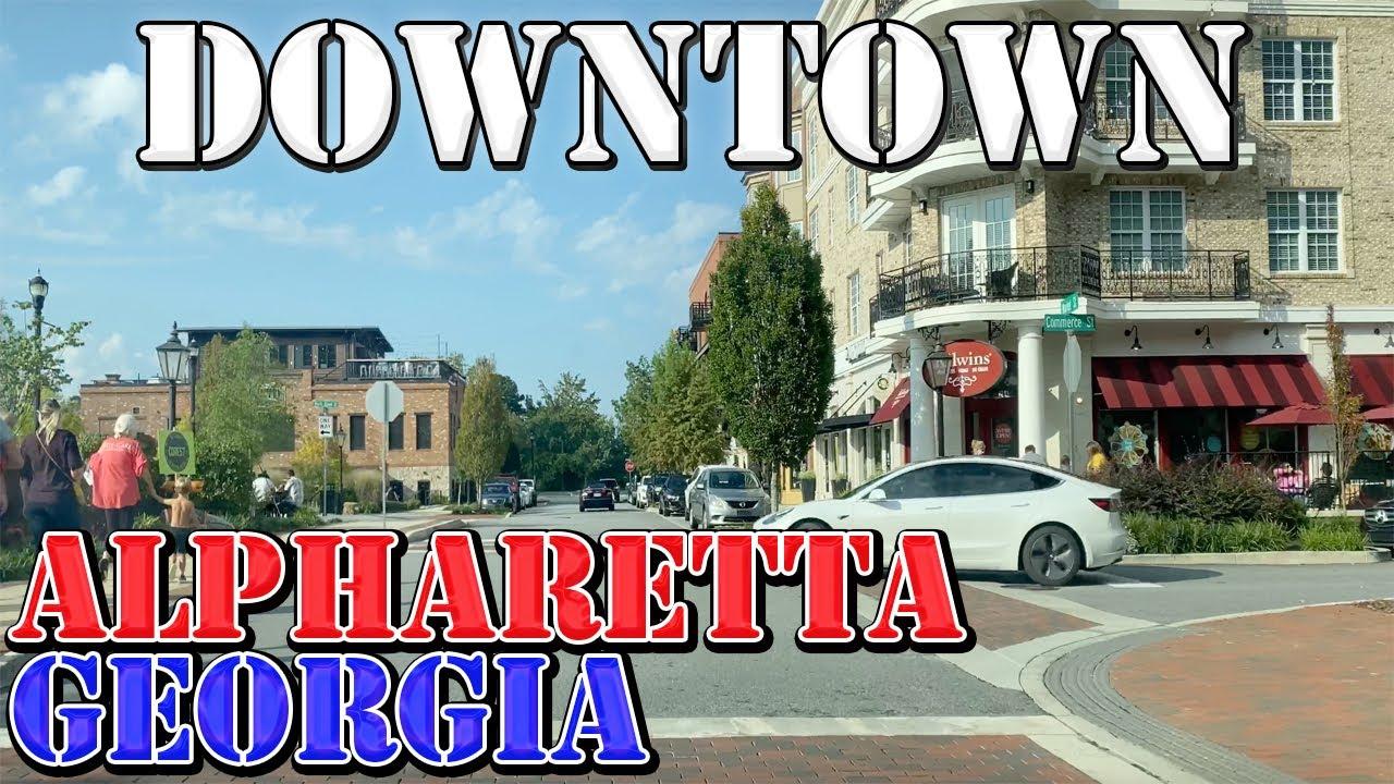 Download Alpharetta - Georgia - 4K Downtown Drive