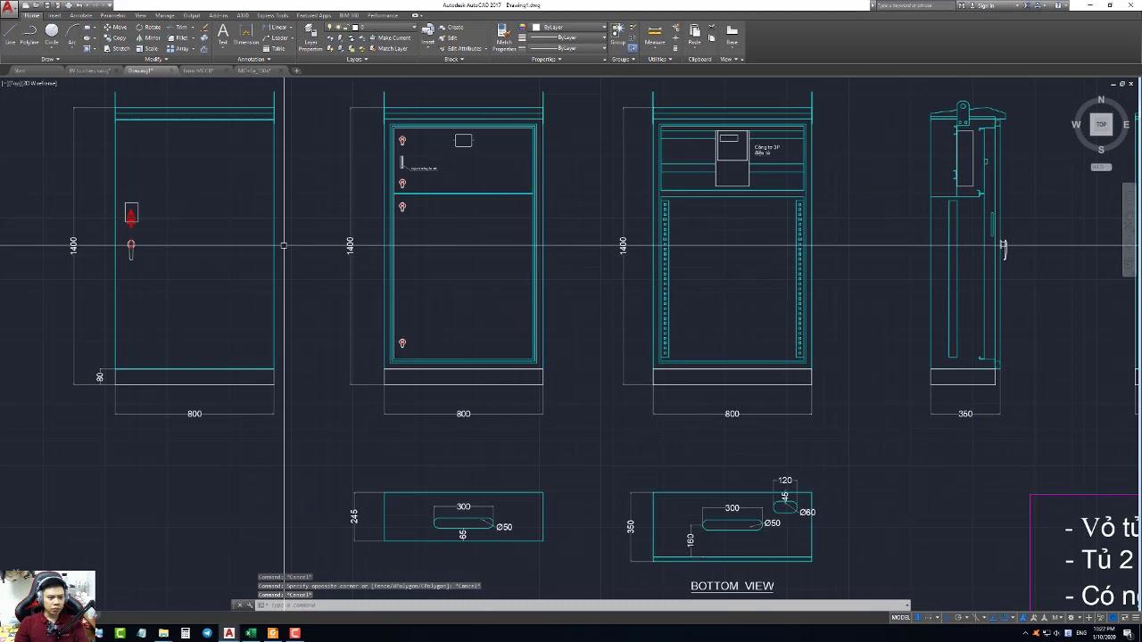 Hướng Dẫn Thiết Kế Tủ Điện Chiếu Sáng Bằng Phần Mềm Auto CAD