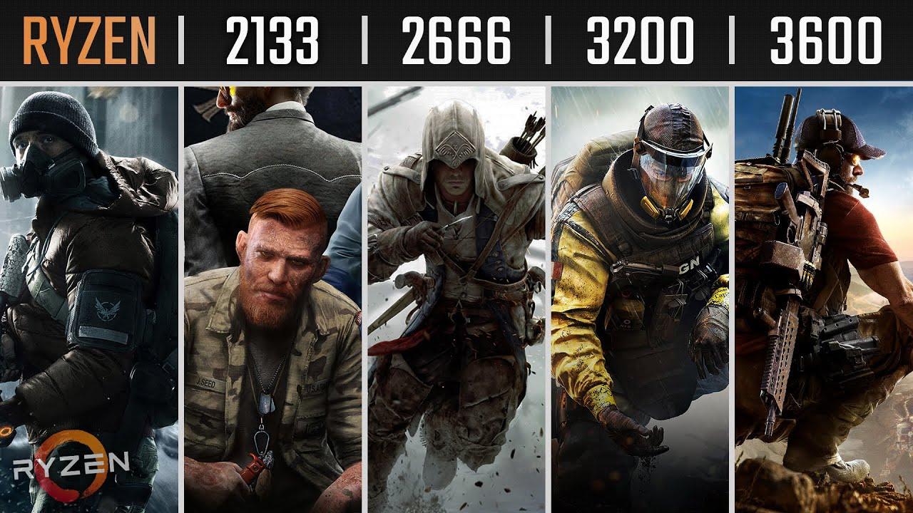 RAM 2133 vs 2666 vs 3200 vs 3600 MHz | Ryzen 5 3600 + VEGA 56 | 1080P, 1440P, 4K Gaming Benchmarks