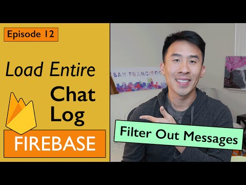 Swift: Firebase 3 - How to Load Entire Chat Log per User (Ep 12)