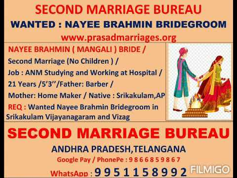 Nayee Brahmin Second Marriage Bride Wanted Bride Groom Second