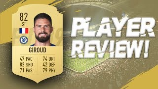 FIFA 19 - 82 RATED OLIVIER GIROUD PLAYER REVIEW | FIFA 19 ULTIMATE TEAM PLAYER REVIEW