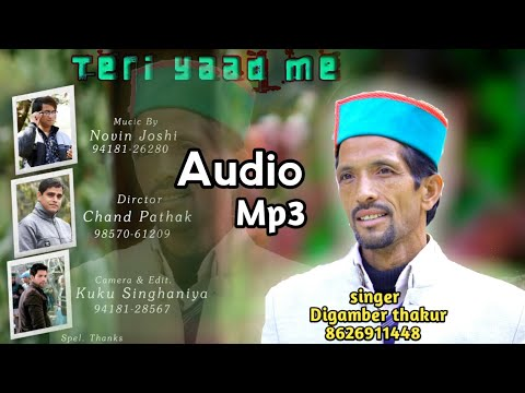 New 2o18 Teri yaad me phari audeo mp3 singer by DIgamber thakur music novin joshi