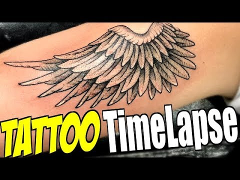 b08a26262 TATTOO TimeLapse - Angel Wing Dotwork (by Romeo Lacoste ft. Tanner  Braungardt)