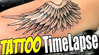 Angel WING Dotwork - TATTOO TimeLapse (Romeo Lacoste ft. Tanner Braungardt)