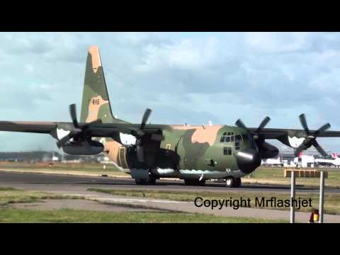 Algeria Air Force C-130H Hercules {7T-WHE} HEATHROW FLIGHT DEPARTURES Plane Spotting Guide
