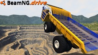 BeamNG.drive - JUMPING INTO A MINE