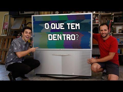 O que tem dentro de uma TV gigante ft Luciano Amaral