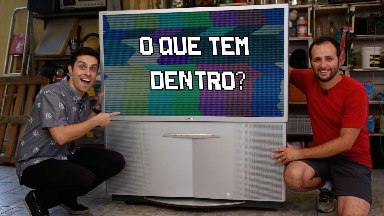 O que tem dentro de uma TV gigante ft. LUCIANO AMARAL #OQueTemDentro ????Manual do Mundo