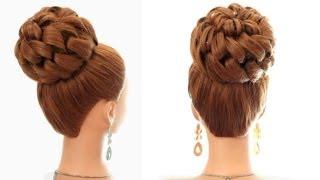 Прическа на длинные и средние волосы на свадьбу.