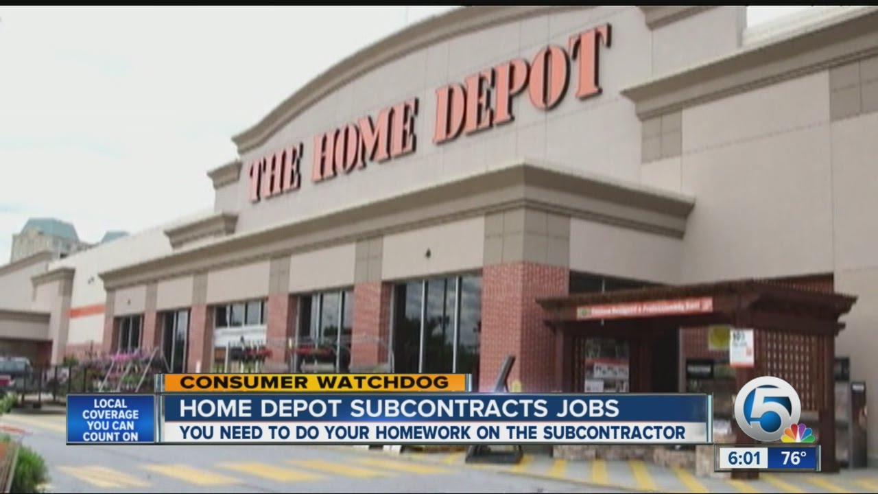 Home Depot subcontractor needs 4 tries to fix job