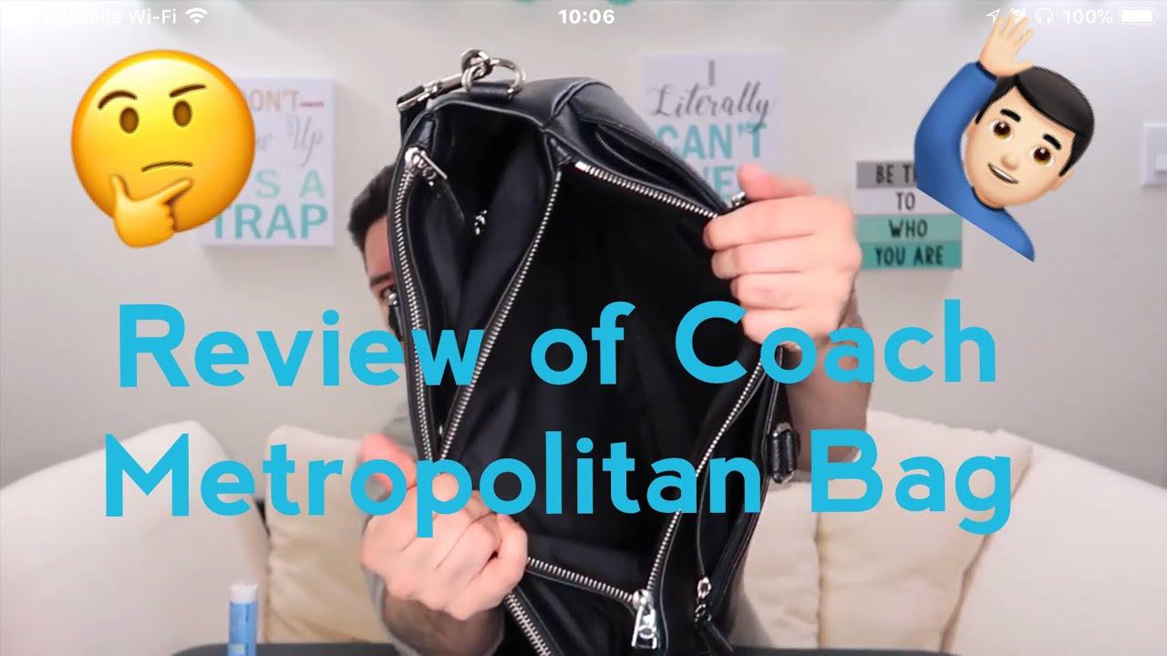f386f951d5c9 Men s Coach Metropolitan CG Bag Unboxing   Review. Josh Matta