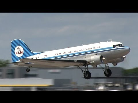 KLM Douglas DC-3 Dakota (PH-PBA) take-off and landing at Hannover (HAJ/EDDV)