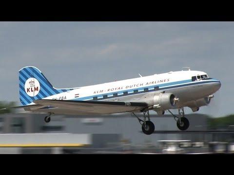 KLM Douglas DC-3 Dakota (PH-PBA) take-off and landing at Hannover (HAJ/EDDV)