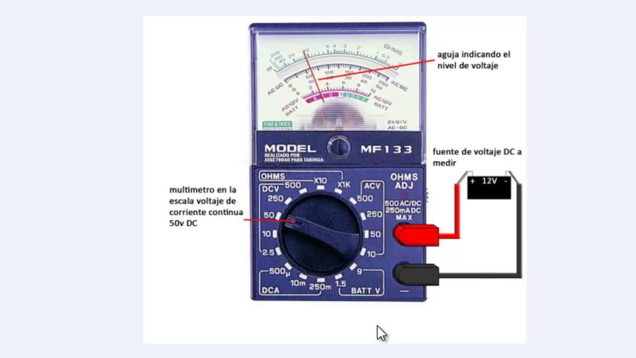 Como usar un polimetro analogico