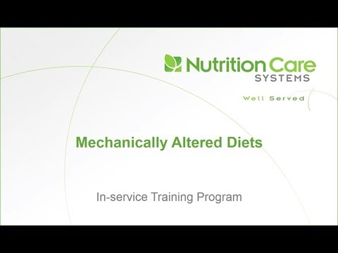 Mechanically Altered Diets