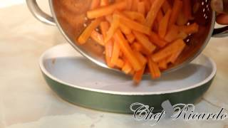 How To Cook Carrots At Home And Glazed Honey On It