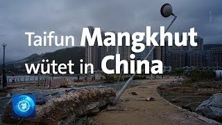 Taifun Mangkhut wütet in China und auf den Philippinen