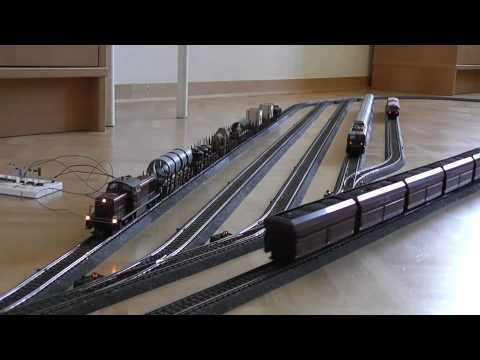 Model Trains Running With Automatic Control