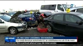Accident în lanţ pe A2: Bilanţul a ajuns la 4 morţi. Zeci de persoane sunt rănite