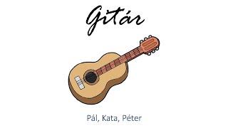 Hangszer ovi - Pál, Kata, Péter (gitár) / Hungarian children song (cat, cow, dog, animal)