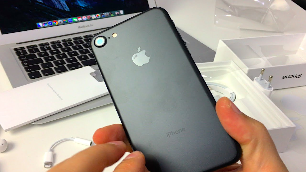 matte black iphone iphone 7 black matte unboxing 6643