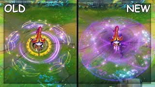 All Lulu Skins OLD and NEW Visual Effects VFX Update 2019 League of Legends