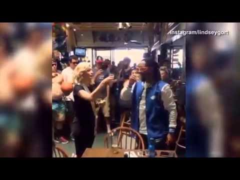 Lil Jon feeds Lindsey Gort shots at her...