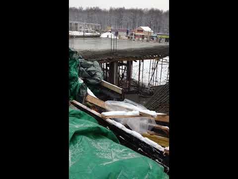 обрушение, падение плиты перекрытия во время бетонирования