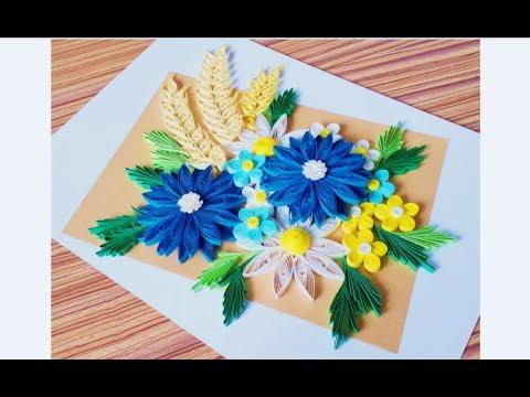 DIY Paper Quilling Flower For beginner Learning video 31 // Paper Quilling Flower Card