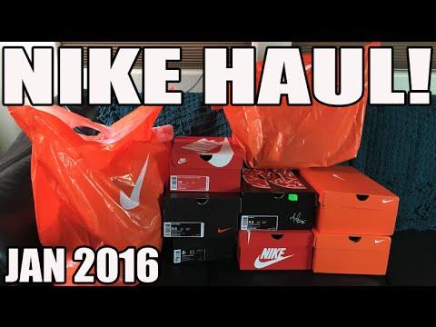 fun-nike-haul!-12-pickups:-7-pairs-of-sneakers-(jan-2016)-in-4k