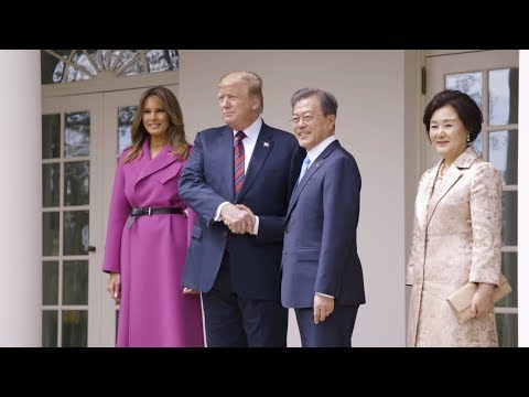 President Trump and the First Lady Meet with the President and First Lady of South Korea