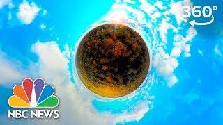 New England Fall Foliage Fly Through At Bartlett Arboretum | 360 Video | NBC News