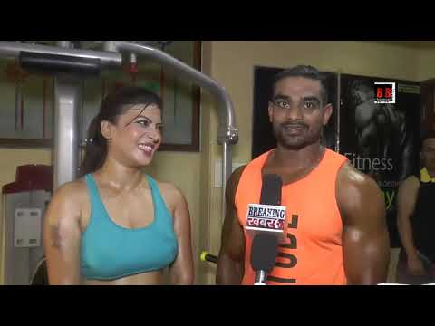 Download Sonia Singh Photoshoot along with Mr. Shahrukh at King's Fitness for a leading fitness magazine
