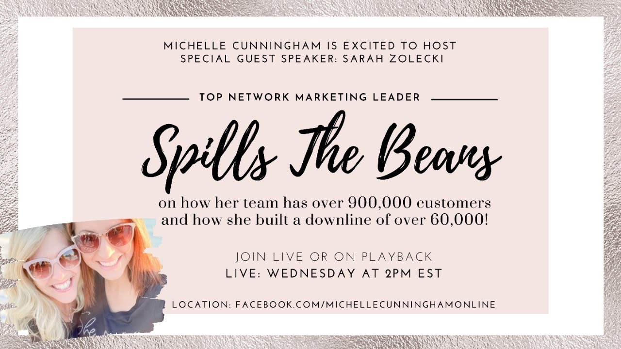 Top Network Marketing Leader Sarah Zolecki Is Here To Spill The Beans!!
