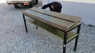 깊이 있는 초록의 떡/빵 매대 테이블/책상 (접이식)